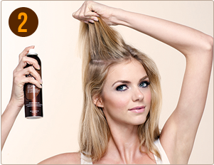 How to Apply Dry Shampoo Step 2