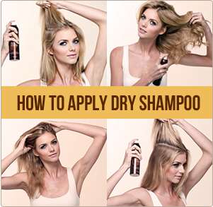how to apply oscar blandi dry shampoo