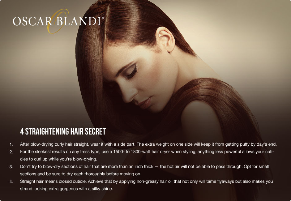 Straightening Hair Secrets with Oscar Blandi